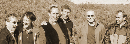 (von links nach rechts: Wolfgang Hopf, Thomas Meinert, Bernd Wernicke, Herbert Gittel, Gerd Galonska und Thorsten Becker)